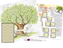 Decorative Family Tree chart.