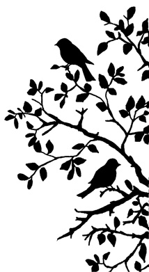 Crafty Individuals - Birds on Branch Silhouette