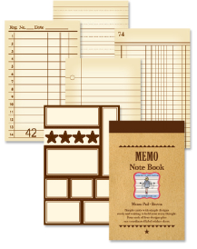 Memo Note Book - Brown