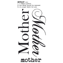 Mother - Rub on Word