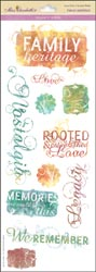 Family Heritage Vellum Stickers