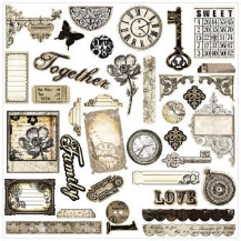 Prima Marketing - Engraver - Chipboard Stickers