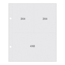 "Sn@p! Pocket Page For 6""X 8"" Binders - (1) 4""x 6"" & (2) 3""x 4"" Pockets"