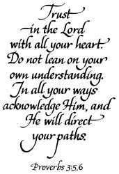 Stampendous Rubber Stamp - Trust In The Lord (Proverbs 3:5)