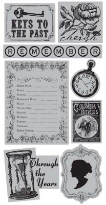 "TPC Studio - Memory Lane - Rubber Cling Stamps 4""X8"" Sheet"