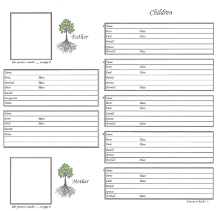 "Our Roots - 8"" x 8"" - Family Group Chart 2"