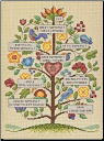 Vintage Family Tree Counted Cross Stitch Kit