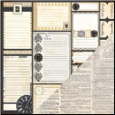 Heritage Double-Sided Cardstock - Tabs & Notes/Script