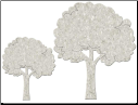 Fabscraps - Die-Cut Grey Chipboard Word - Fluffy Trees