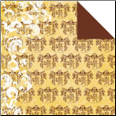 Glitz Camelot Double Sided Paper - Crest