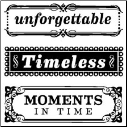 Timeless Phrases - Clear Mini Stamps