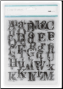 Distressad Alphabet - Kaisercraft - Clear Stamps