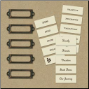 Eco-Modern Metal Art Label Holders & Labels by The K&Company