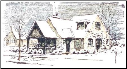 Lablanche Silicone Stamp - Winter House