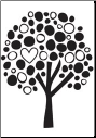 Unity Stamp - Family Tree -  Itty Bitty Bella Blvd Unmounted Rubber Stamp