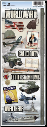 Paper House - World War II Cardstock Stickers