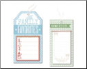 Savor Collection Specialty Tags - Stitched Canvas