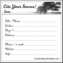 Cite Your Source! Sticky Notes