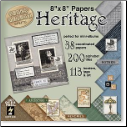 "Heritage 8""x 8"" Papers"