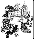 Lablanche Silicone Stamp - Church With Roses