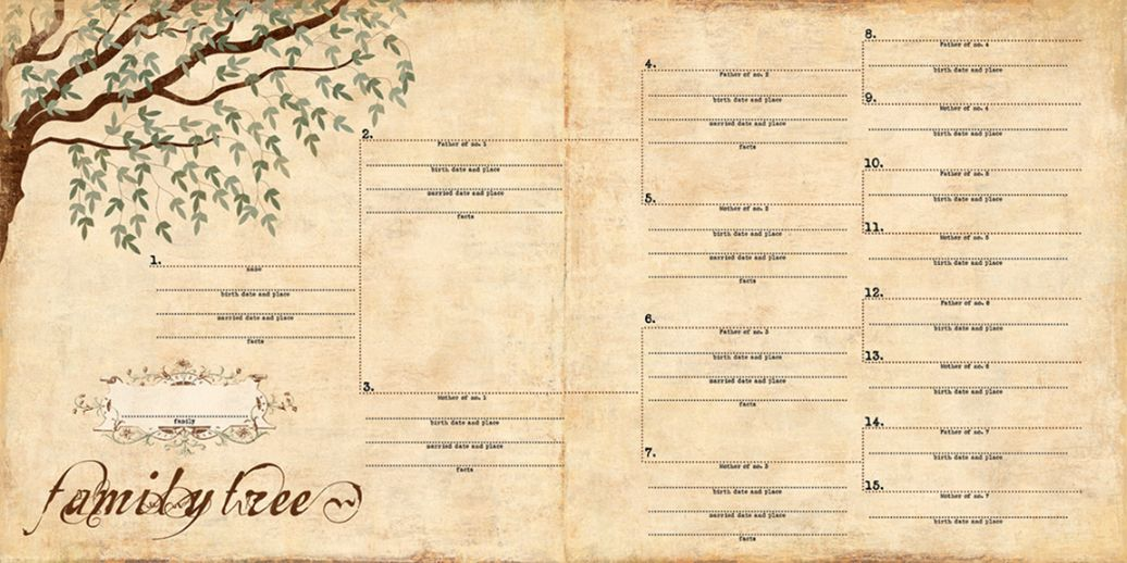 Genealogy Book Template Roho4senses
